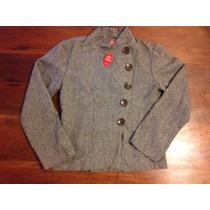 Hermoso Blazer Saco/chaqueta Estilo Militar Con Botones