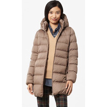 Campera, Camperón Uniqlo Stretch Down Coat, Talle Xl Mujer