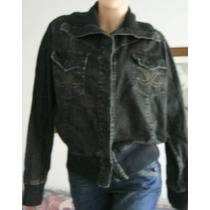 Ver, Campera Mujer Xl, Jeans Elastizado Negro (ana.mar)