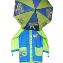 Piloto + Paraguas Infantil Toy Story Disney Pixar Original