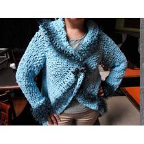 Saco Tejido En Suite De Tonos Al Crochet