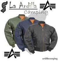 Campera Alpha Ma1 Original Aviadora La Ardilla Desde 1976