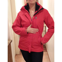 Campera Northland Mujer Talle 38 M Roja