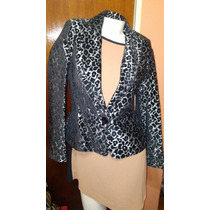Saco Blazer Basament Animal Print Unico
