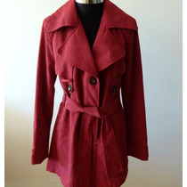 Trench Mujer Impermeable En Microfibra Capucha Desmontable