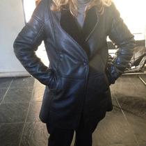 Campera Blazer Abrigo Marca Xl Mujer Cuero Impecable Mira!!