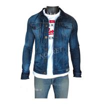 Campera De Jean Azul Batik Entallada Slim Fit Hombre Nueva