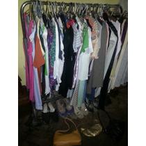 Lote 80 Prendas, Vestidos; Carteras, Zapatos, Remeras