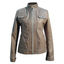 Lady Leather Jacket Cow Sheep Dash Leathers