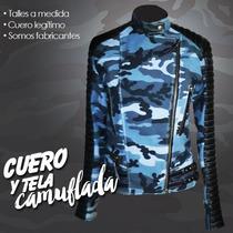 Camperas De Cuero Combinadas/camufladas
