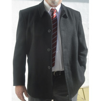 Gaban Hombre Talles Especiales Desde 58 Al 60 Paño Negro