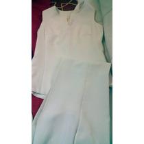 Conjunto De Saco, Blusa Y Pantalon De Mujer