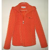 Campera Mujer Calvin Klein Color Naranja Talle S (grande)