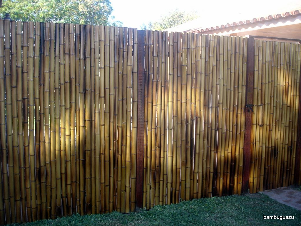Pin ca as cercos pergolas tacuara bambu colocacion y envio for Jardines con canas y piedras
