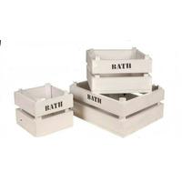 Cajones Madera 40x25 Adorno Deco Guarda Juguete Cosmeticos