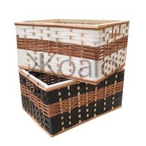 Canastos De Mimbre Y Suncho Combinado Pack X4 Koalo Muebles