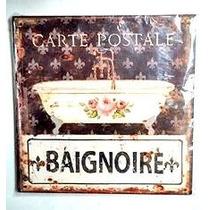 Carteles Retro Vintage Sobre Chapa Cuadro Baño Decoración