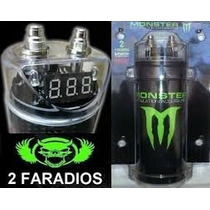 Capacitor Monster 2 Faradios Display Digital + Soporte