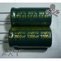 5x Capacitor 3300uf 6.3 105°c 10x20 ¿nuevos¿ Sanyo Japón