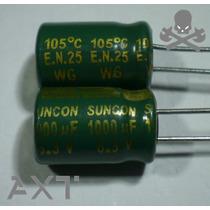 """5x Capacitor 1000uf 6.3v 105°c 8x13 """"nuevos"""" Suncon Japón"""