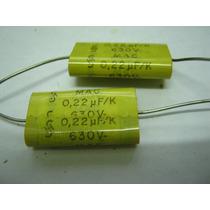 Capacitor Poliester Mac Siemens A.22 X 600v Bolsa 100 Unid