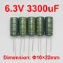 Capacitor Electrolítico 3300 Uf 6,3v 105°c (4 Unid)