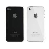 Tapa Vidrio Trasero Iphone 4 Y 4s Negro / Blanco