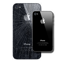 Tapa Vidrio Trasero Iphone 4 Y 4s Negro / Blanco En El Acto