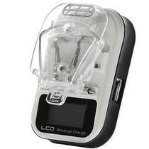 Cargador Universal Lcd De Baterias Celular Camaras Mp3 Usb