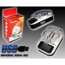 Cargador Externo De Bateria Celulares Mp3 Lcd Usb