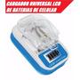 Cargador Universal Bateria Celular Camara Mp3 Lcd Usb Pared