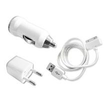 Kit Cargador Auto 12 + Pared 220 + Cable Usb Iphone 3g 4g 4s