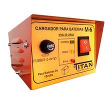 Cargador De Bateria Auto 12volt Con Led Indicador De Carga