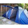 Carpa De Camping P/4 Personas 2 Habitaciones Comedor + Bolso