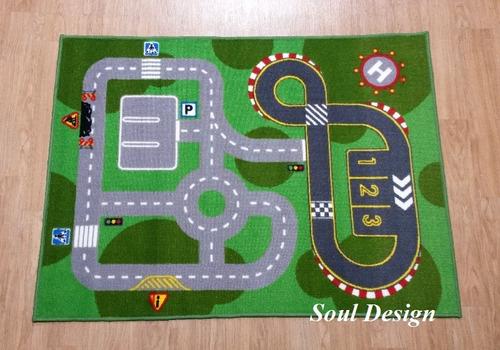 Carpeta Alfombra Calles Rayuela Cancha 100x140 Cm, Fundasoul