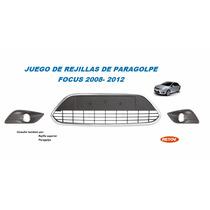 Rejilla Parrilla De Paragolpe Focus 2008-2012 Cromada Juego