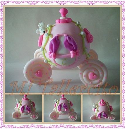 Carruaje de princesa en porcelana fria - Imagui