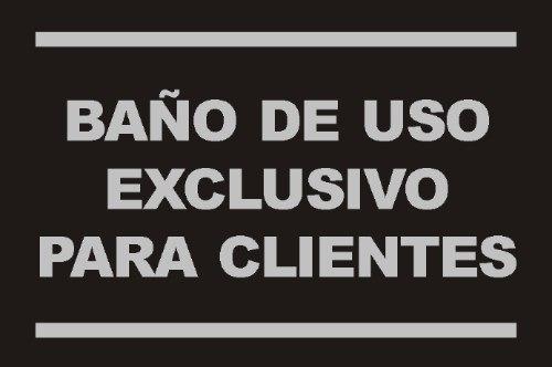 letreros de uso exclusivo de ba os imagui