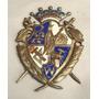 Antigua Insignia Escudo Patagonico Bronce Enlozado 3 Colores