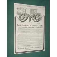 Publicidad Rural 1920 Auto Camiones Gmc General Motors Cia