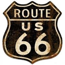 Cartel Ruta 66 Antiguos Chapa Gruesa 54x50cm Ruta 66 C-001