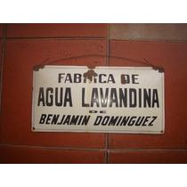Cartel Enlozado Fabrica Agua Lavandina