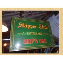 Cartel De Chapa Bar Restaurante Decoracion Nautica