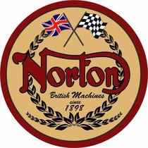 Carteles Antiguos De Chapa Gruesa 50cm Moto Norton Mot-018