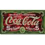 Carteles Antiguos En Chapa Gruesa 20x30cm Coca Cola Dr-362