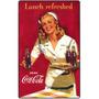Carteles Antiguos En Chapa Gruesa 20x30cm Coca Cola Dr-353