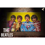 Cuadro Impreso En Cuerina Con Bastidor De Madera The Beatles