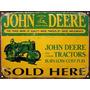 Cartel De Chapa Publicidad Vintage Tractor John Deere E253