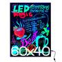 Pizarra Led Cartel Luminoso 60x40 +trafo+control+marcadores!