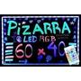 Pizarra Led Rgb Con Control Remoto 60x40cm Luminosa Fluo